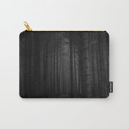 The Dense & Foggy Forest (Black and White) Carry-All Pouch