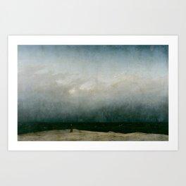 Caspar David Friedrich - The Monk by the Sea Art Print