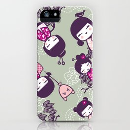 Japanese Doll Collection iPhone Case