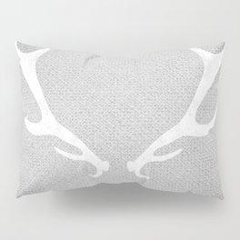 White & Grey Antlers Pillow Sham