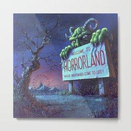 One Day at Horrorland Metal Print