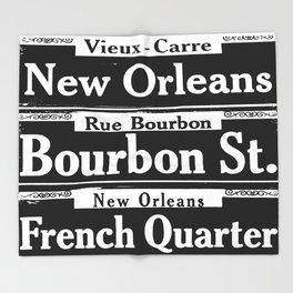 New Orleans French Quarters Throw Blanket