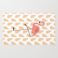 flamingo Area & Throw Rugs featuring Flamingo by Pati Designs