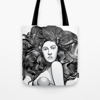 artrave Tote Bags featuring artRAVE ARTPOP by Alli Vanes