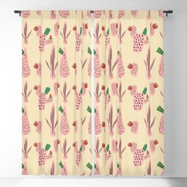 Mid Mod Cactus Pink Blackout Curtain