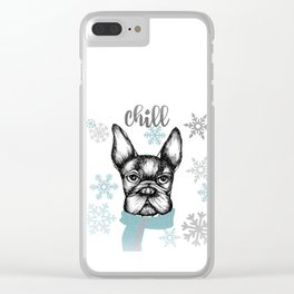 French Chill Clear iPhone Case