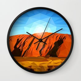 Uluru the Mighty Dreamer - Ayers Rock, Outback - Australia Wall Clock