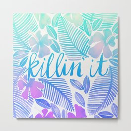 Killin' It – Turquoise + Lavender Ombré Metal Print