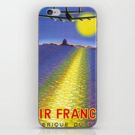Amerique Du Sud - Vintage Air France Travel Poster iPhone Skin