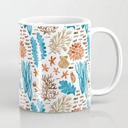Coral Reef Watercolor Pattern- Teal Coffee Mug
