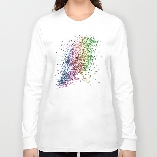 A Crow of Lace and Color Long Sleeve T-shirt