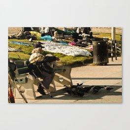 Pigeon Feed - Venice Beach Canvas Print