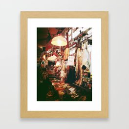 dry goods store Framed Art Print