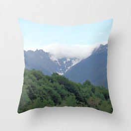 Breathtaking mountain view Throw Pillow