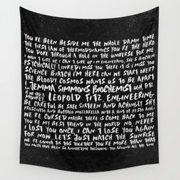 FitzSimmons Phrases in Black & White/2 Wall Tapestry