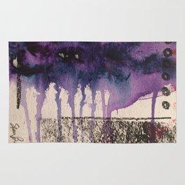 Purple Rain, original artwork by Stacey Brown Rug
