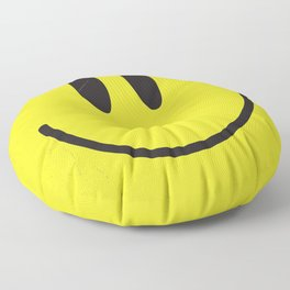 Acid house '91 vintage smiley face Floor Pillow