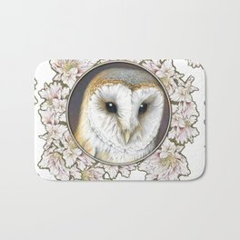 Barn owl small Bath Mat