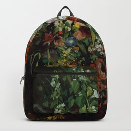 """Gustave Courbet """"Bouquet of Flowers in a Vase"""" Backpack"""