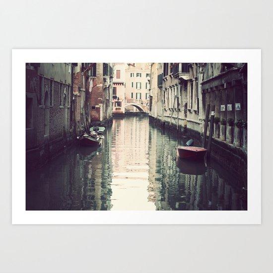 Boats in Venice Art Print