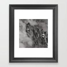 House in the sky Framed Art Print