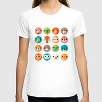 dog T-shirts featuring SMILEY FACES 1 by Daisy Beatrice