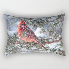 Let It Snow (Northern Cardinal) Rectangular Pillow