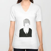 sister V-neck T-shirts featuring another sister by David Penela