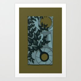 Relativity Clock Art Print