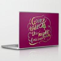 rap Laptop & iPad Skins featuring Floral Rap #2 by Mei Lee