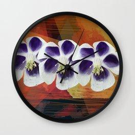 Flowers sisters Wall Clock
