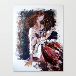 Monet's Girl Canvas Print