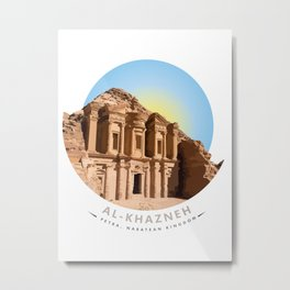 Al-Khazneh, Petra, Nabatean Kingdom Metal Print