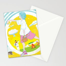 SUPER ULTRA MIRACLE SPACE GALAXY THUNDERBOLT INDIAN FIRE VOLCANO CATTLE MUTILATION LONELY WOLF BALL Stationery Cards