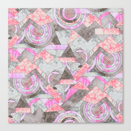 Abstract marble geo 001 Canvas Print