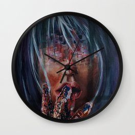 Blurred Lines Wall Clock