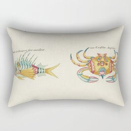 Colourful and surreal s of crabs and lobster found in Moluccas (Indonesia) and the East Indies by Lo Rectangular Pillow