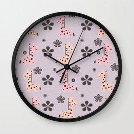 Girl Giraffe Playland Wall Clock