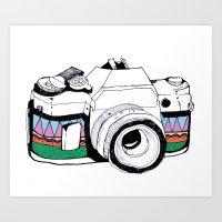 camera Art Prints featuring Camera by Mariam Tronchoni