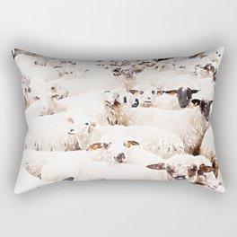 The Herd #watercolor #wildlife Rectangular Pillow
