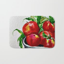 Life is Just a Bowl of Apples Bath Mat