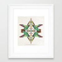 hummingbird Framed Art Prints featuring hummingbird  by Manoou