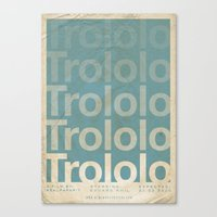 movie posters Canvas Prints featuring Trololo - Meme Movie Posters by Stefan van Zoggel