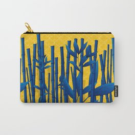 Blue Bamboo Carry-All Pouch