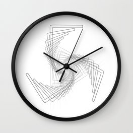 """""""Fly Collection"""" - Abstract Minimal Letter F Print Wall Clock"""