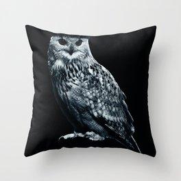 Burning Owl Throw Pillow