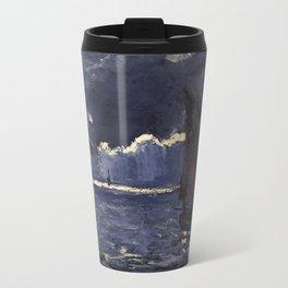 Claude Monet - A Seascape, Shipping by Moonlight Travel Mug