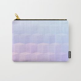 Pastel Cube Pattern Ombre 1 - pink, blue and vi Carry-All Pouch
