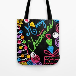 A Doodle Merry Christmas Tote Bag