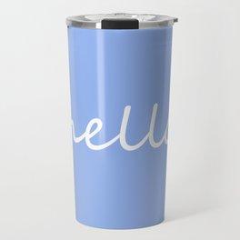 Hello Baby Blue Travel Mug